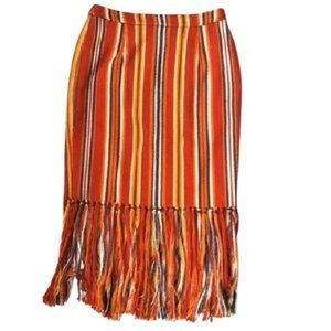 🔥host pick🔥Beach Stripe long fringe pencil skirt